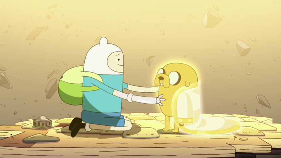 """Inseparable brothers Finn and Jake reunite for one final adventure in """"Together Again."""" Screenshot by Andrew Kolondra Jr. (HBO Max/Distant Lands)"""