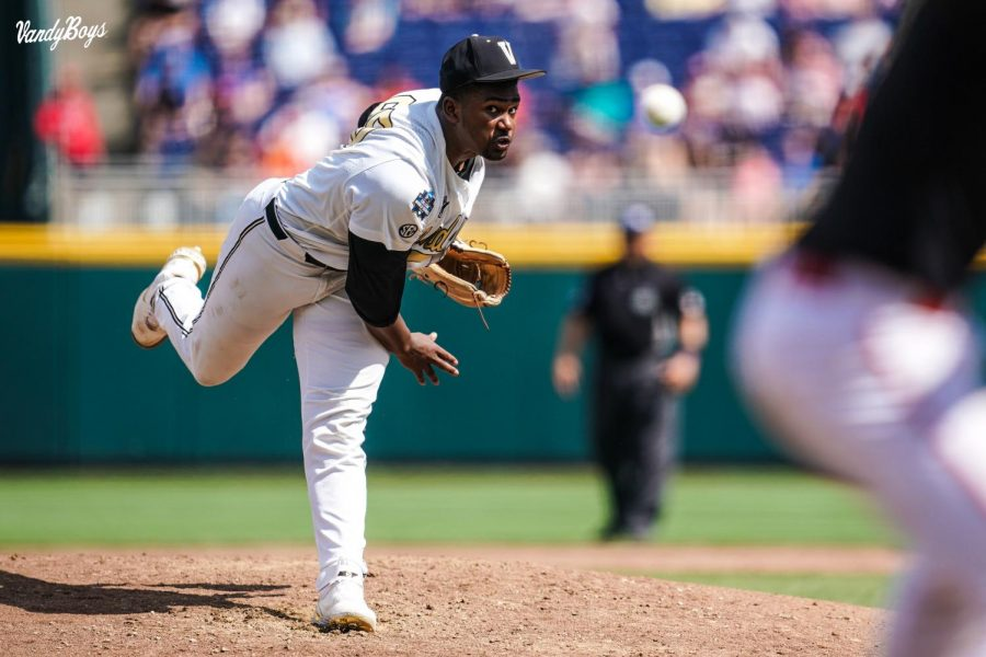 Kumar Rocker threw 11 strikeouts in the win on Friday (Vanderbilt Athletics).