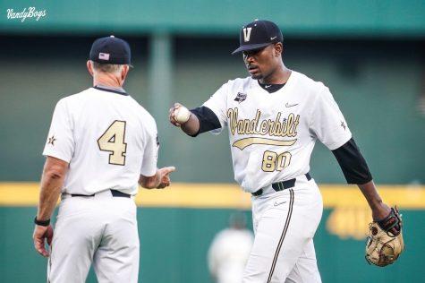 Kumar Rocker managed to pitch just 4.1 innings in a crushing Vanderbilt loss. (Vanderbilt Athletics).