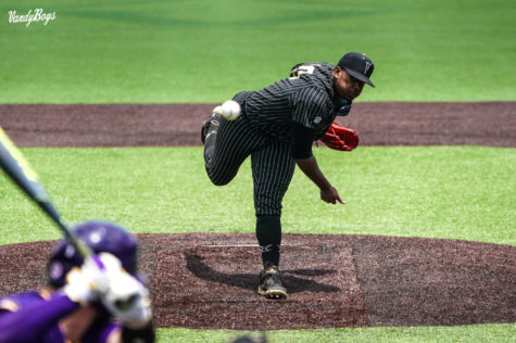 Rocker twirled another gem for the Commodores on Friday (Twitter/@VandyBoys).