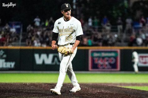 Jack Leiter threw 11 strikeouts over 6 innings of work on Saturday night. (Twitter/@VandyBoys)