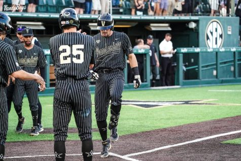 Dominic Keegan totaled five RBIs and three extra-base hits in Vanderbilt