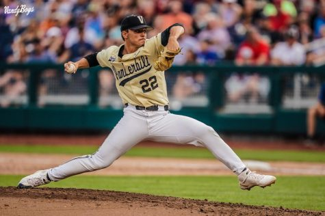 Vanderbilt righty Jack Leiter was selected second overall in the 2021 MLB Draft by the Texas Rangers. (Vanderbilt Athletics).