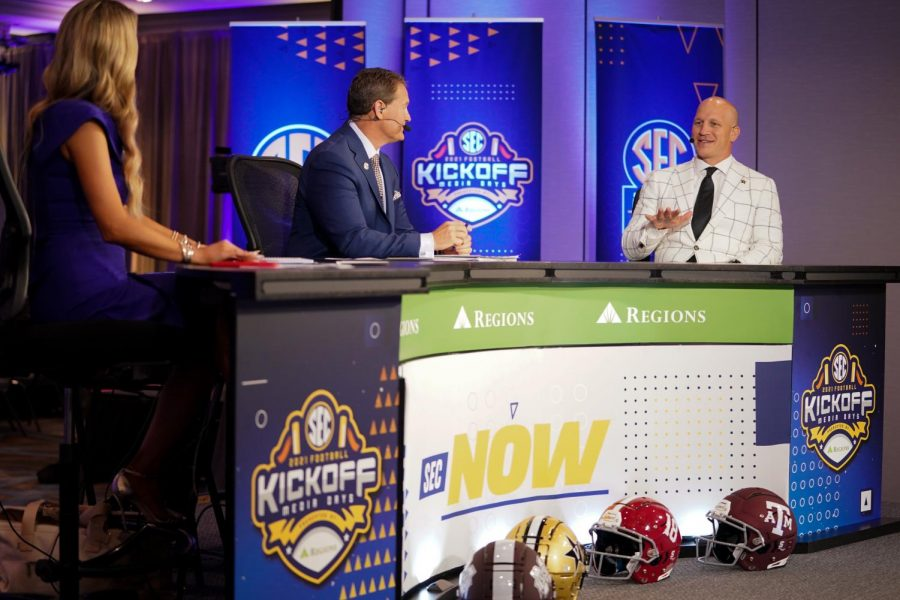 Head coach Clark Lea participated in his first SEC Media Day on Wednesday in Hoover, Alabama. (Vanderbilt Athletics).