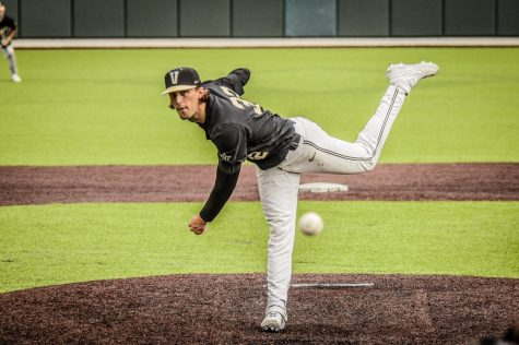 Despite tearing his UCL after his sophomore season, Fisher had a strong senior campaign and will now bring his talents to Arizona. (Vanderbilt Athletics).