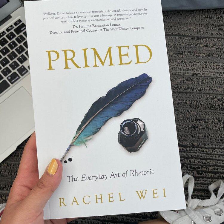 Senior Rachel Wei's book