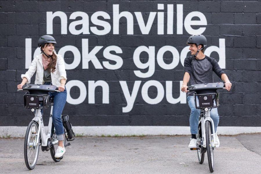 Nashville riders on BCycle bikes in 12 South. (BCycle)