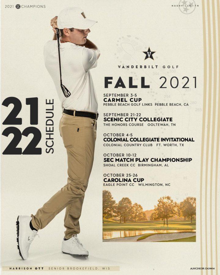 Vanderbilt Mens Golf prepares for the 2021 fall season. (Twitter/@VandyMGolf).