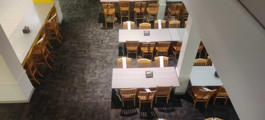 dining tables in Rand from a birds eye view