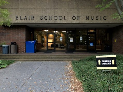 front of blair