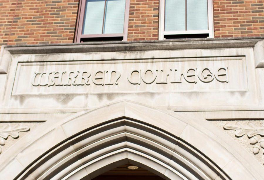 warren college sign