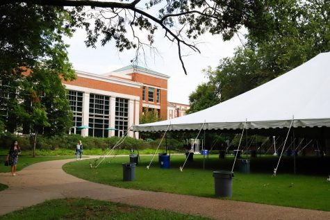 dining tent located on Commons Lawn