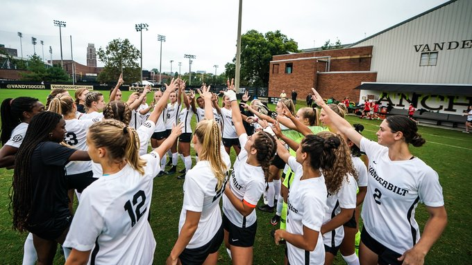 Vanderbilt soccer dropped its third game of the season on a rainy Sunday in Nashville. (Vanderbilt Athletics).