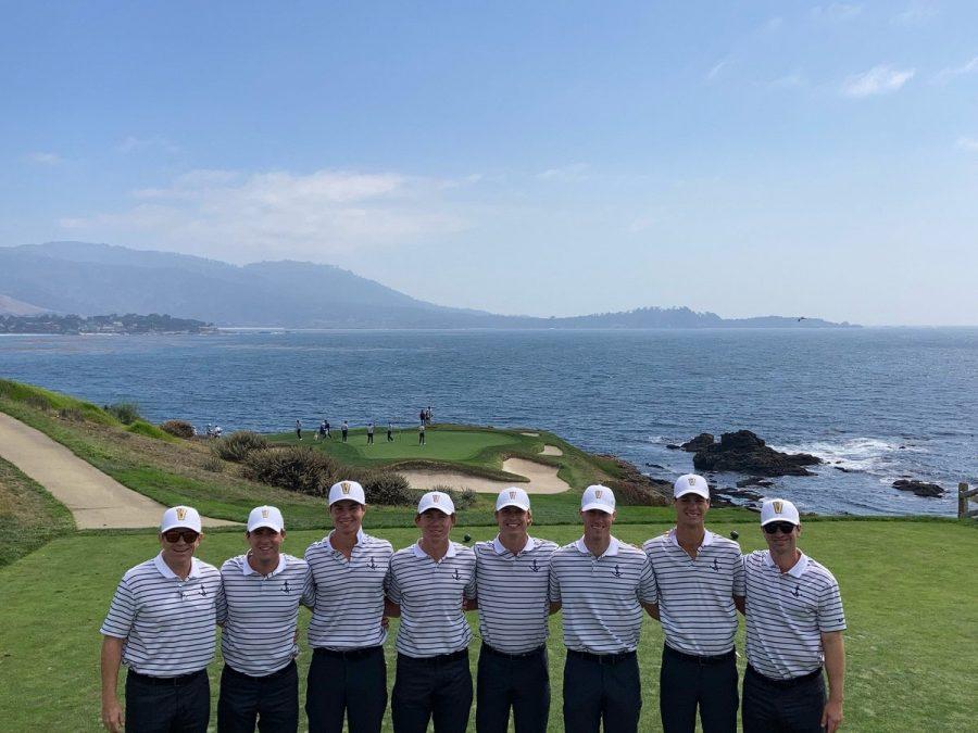 Vanderbilt men's golf began its season at Pebble Beach in California this past weekend. (Twitter/@Scottlimbaughvu).