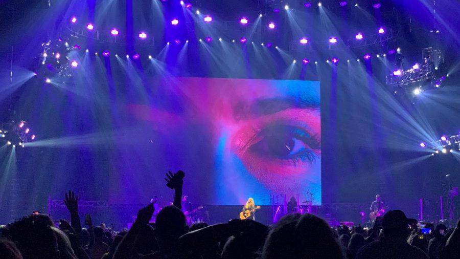 Alanis Morissette wows the crowd on stage at Bridgestone. (Hustler Staff/Blythe Bouza)