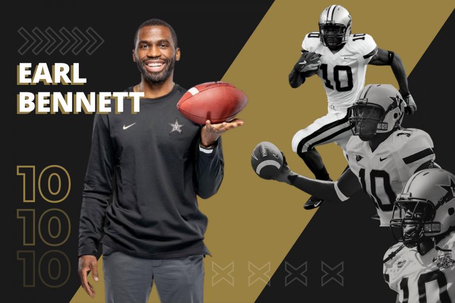 Former Commodore wide receiver Earl Bennett is back on West End to help Clark Lea turn Vanderbilt football around. (Hustler Multimedia/Emery Little).