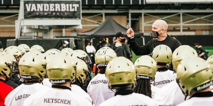 Clark Lea's head coaching debut is set for this Saturday against ETSU at Vanderbilt Stadium. (Vanderbilt Athletics).
