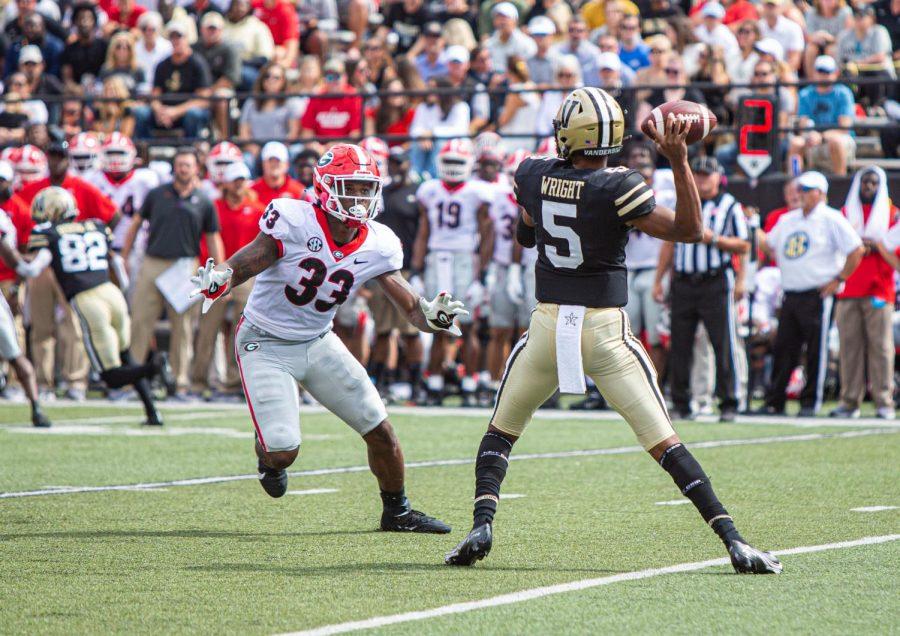 Vanderbilt dropped its first SEC contest of the season to the No. 2 Georgia Bulldogs on Saturday. (Hustler Multimedia/Mattigan Kelly).