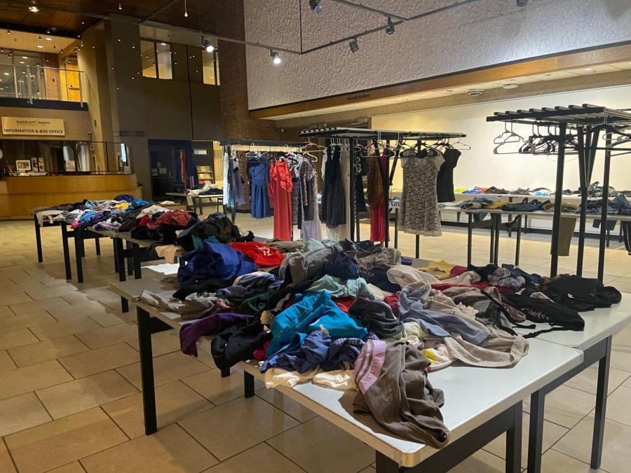 clothes on tables in Sarratt