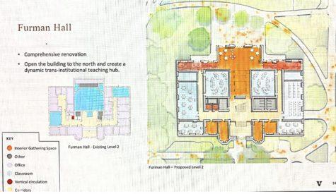 sketch of Furman Hall designs