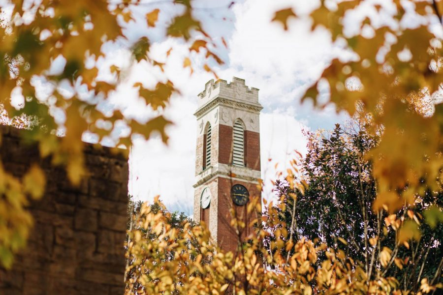 Kirland+Tower+with+fall+leaves+surrounding+it
