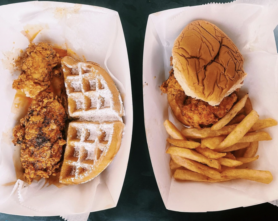 Food from the Nashville Chicken and Waffles food truck. (Photo courtesy of @hungryyhank instagram)