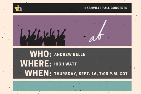 Andrew Belle to play High Watt Sept. 16