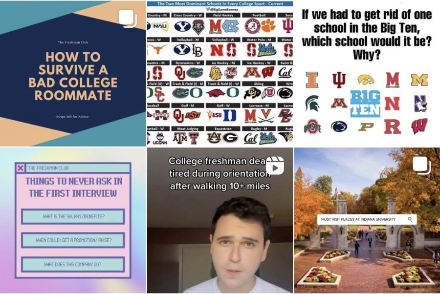 A sample of posts from The Freshman Clubs main Instagram page. (@the_freshman_club on Instagram)