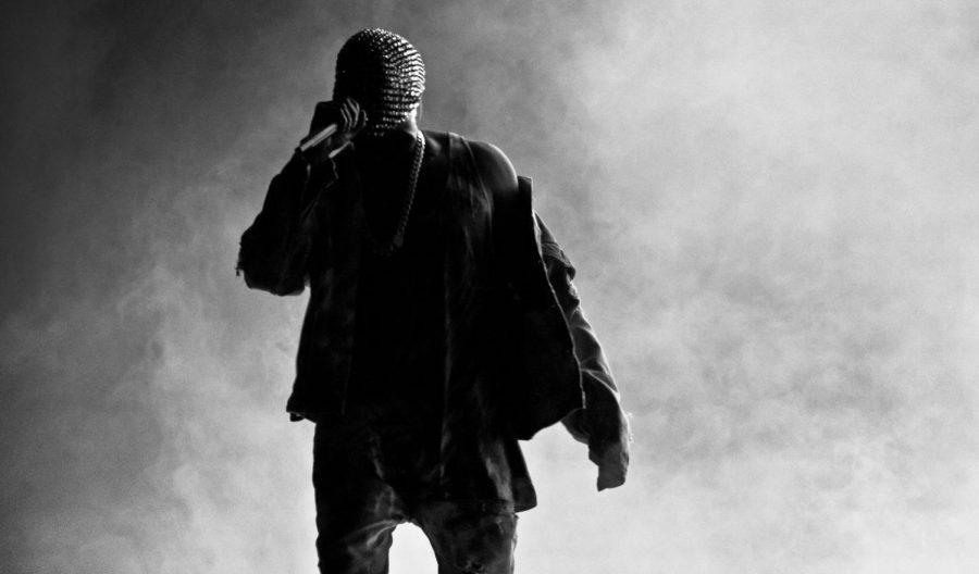 Kanye west performing at Yeezus tour