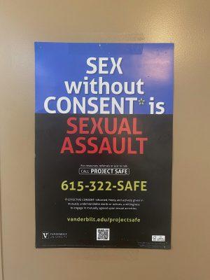 Sexual assault poster in Branscomb