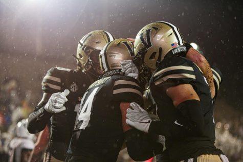 Will Sheppard celebrates one of his two touchdowns on Saturday night. (Mattigan Kelly/ Hustler Multimedia).