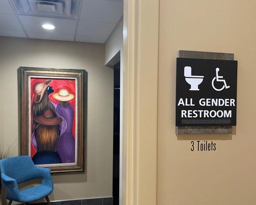 A gender-neutral restroom on campus, as photographed on Sept. 10, 2021. (Hustler Multimedia/Mary Awopileda)
