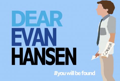 A graphic of Evan Hansen that reads Dear Evan Hansen