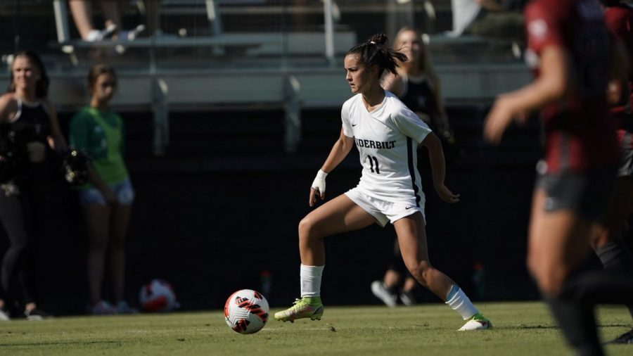 Amber Nguyen playing against Arkansas