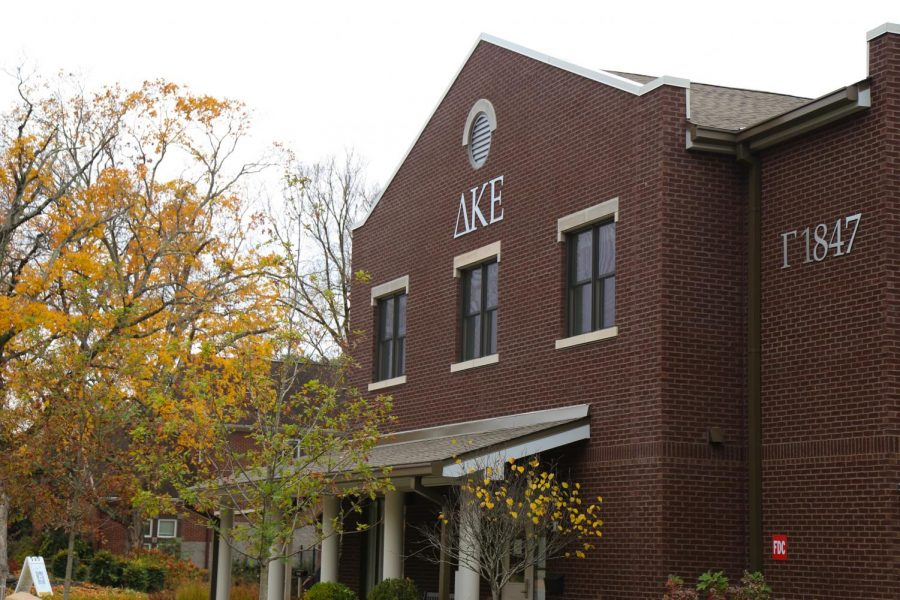 the former DKE house on campus