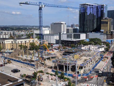 Image of construction of graduate student housing at Vanderbilt University.