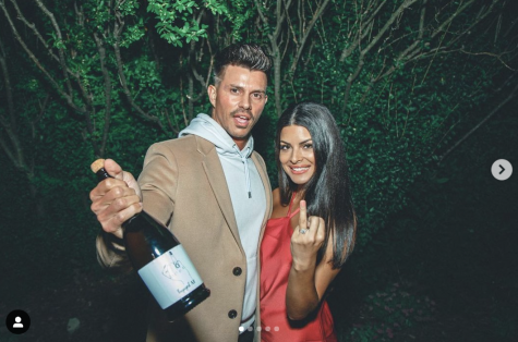 Mari Pepin shows off her engagement ring with fiancé Kenny Braasch