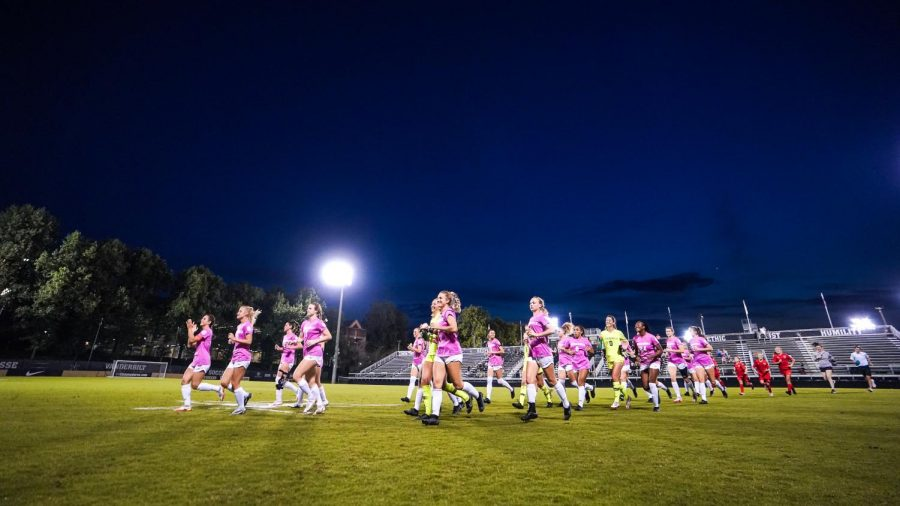 Vanderbilt celebrates a 5-0 victory over Missouri. (Vanderbilt Athletics).