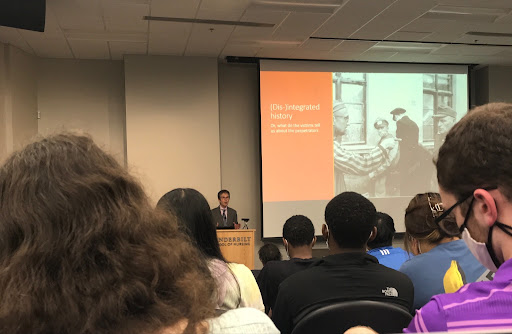 Mark Roseman gives a lecture on Holocaust victim perceptions of their perpetrators for Vanderbilt's Holocaust Lecture Series